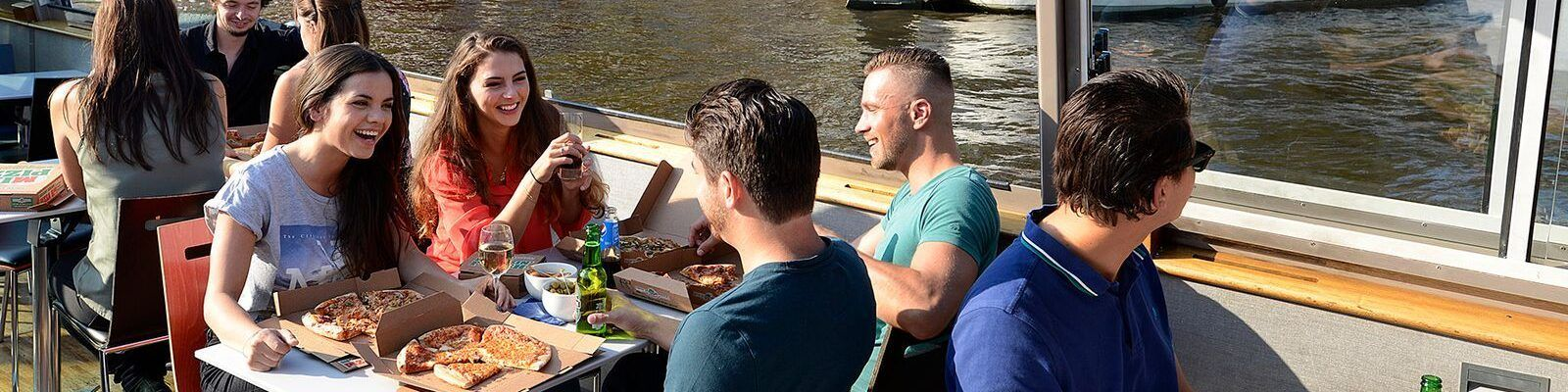 Amsterdam Canal Pizza Cruise