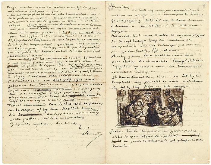van gogh museum letter