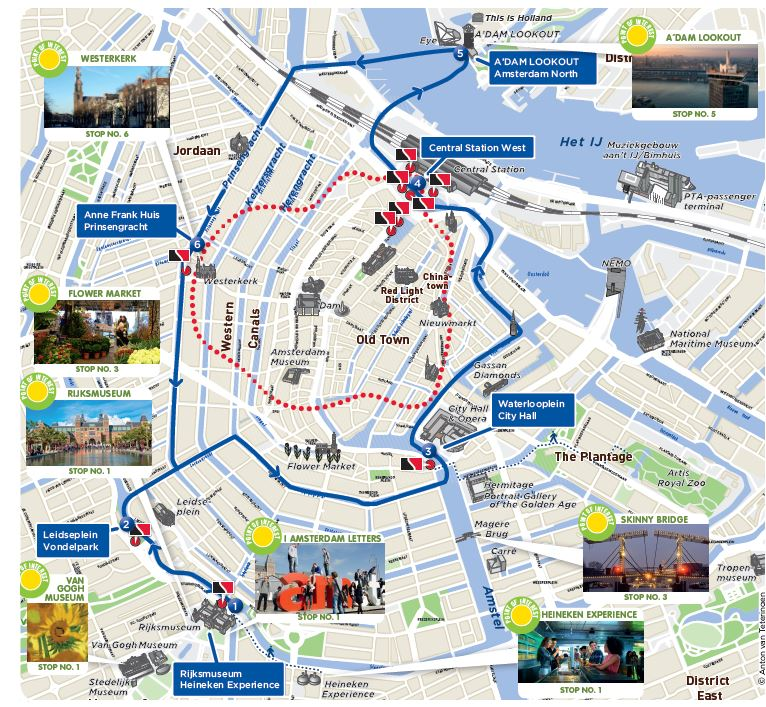Stromma Hop on Hop off - 24 hours - Amsterdam Canal Cruises