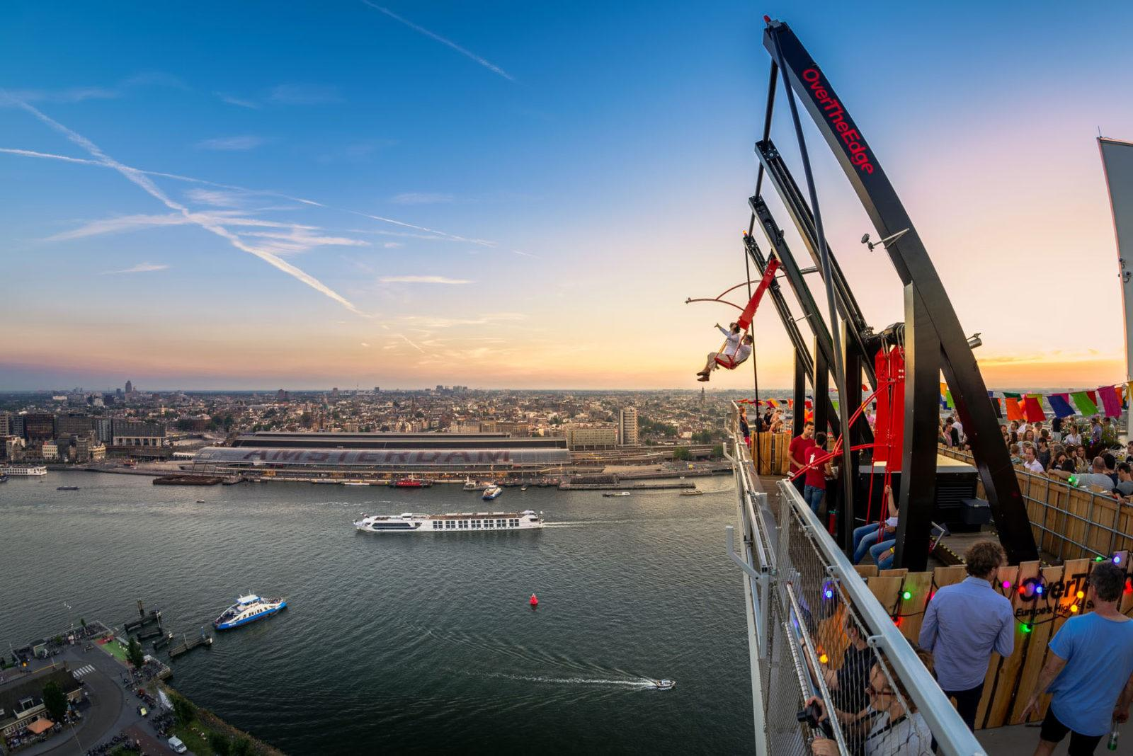 Amsterdam LOOKOUT | Europe's Highest Swing | Panoramic View