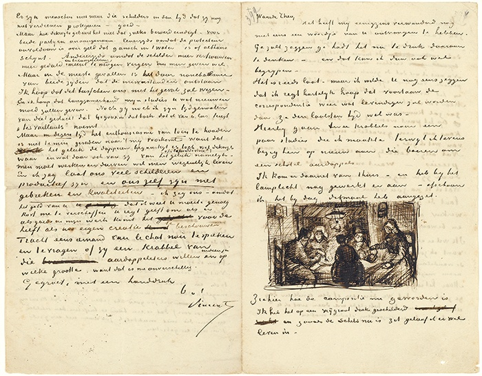 Brief van Vincent van Gogh